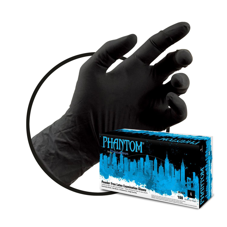 Kingpin Tattoo Supply: Adenna Phantom Black Latex Gloves