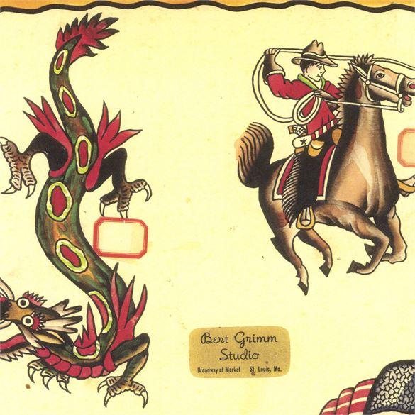 Kingpin Tattoo: Bert Grimm Flash Book #2