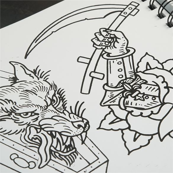 Kingpin Tattoo Supply: Book Of Lines Volume 2 By Aaron Francione