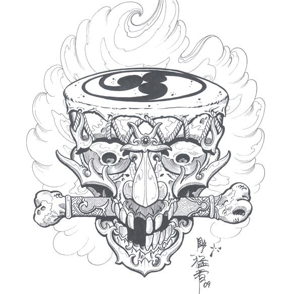 Kingpin Tattoo Supply: Tibetan Skulls By Horimouja
